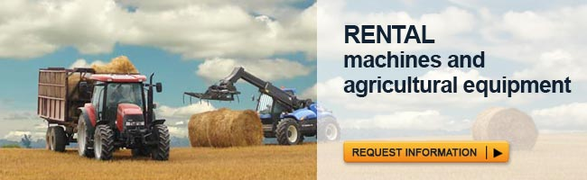 Rental machines and agricultural equipment